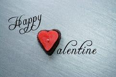 Vela feliz de la tarjeta del día de San Valentín Imágenes de archivo libres de regalías