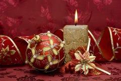 Vela festiva del nuevo-año Imagenes de archivo