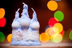 Vela (la Navidad, Año Nuevo, día de fiesta) Imágenes de archivo libres de regalías