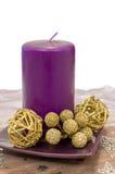 Vela púrpura decorativa Imágenes de archivo libres de regalías