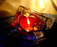 Vela para o dia do Valentim Fotos de Stock