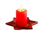 Vela roja Imágenes de archivo libres de regalías