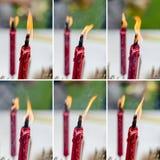 Vela roja en festival chino del Año Nuevo Foto de archivo libre de regalías