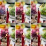 Vela roja en festival chino del Año Nuevo Fotos de archivo