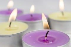 Vela scentled lila Fotografía de archivo