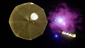 Vela solar Imagenes de archivo
