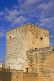 Vela tower, Alhambra in Granada. Royalty Free Stock Photo
