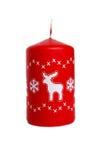 Vela vermelha com cervos Imagens de Stock Royalty Free