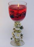 Vela vermelha do Natal Foto de Stock