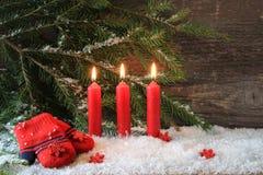 Vela vermelha do Natal Imagem de Stock Royalty Free