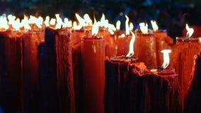 A vela vermelha no ano novo chinês video estoque