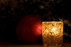 vela y juguete del Nuevo-año imagen de archivo libre de regalías