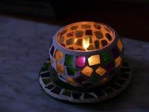 Vela y lámpara Imagen de archivo libre de regalías