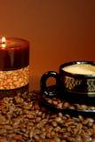 Vela y taza Imagenes de archivo