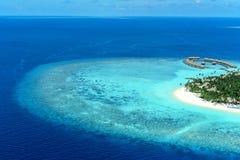 Velaa privat öNoonu atoll Maavelaavaru Royaltyfri Bild