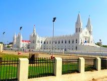 Velankanni kyrka som lokaliseras i Tamil Nadu fotografering för bildbyråer