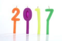 2017 velas Imágenes de archivo libres de regalías