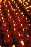 Velas afortunadas vermelhas para orações Fotografia de Stock