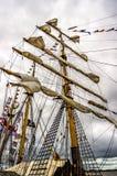Velas altas 4 de la nave de KRI Dewaruci Fotografía de archivo
