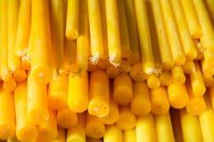 Velas amarelas Foto de Stock Royalty Free