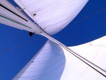 Velas ao vento Fotografia de Stock Royalty Free