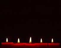 Velas ardentes Imagem de Stock
