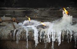 Velas ardentes Fotografia de Stock