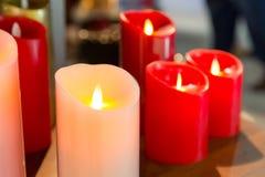 Velas ardientes Imagen de archivo libre de regalías
