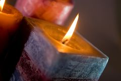 Velas ardientes Fotos de archivo libres de regalías