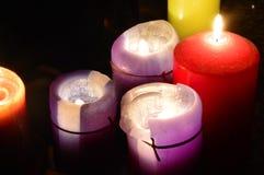 Velas ardientes foto de archivo libre de regalías