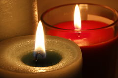 Velas ardientes del aroma Foto de archivo libre de regalías