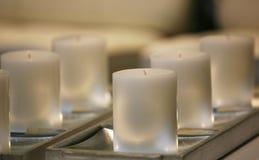 Velas blancas suaves fotografía de archivo libre de regalías