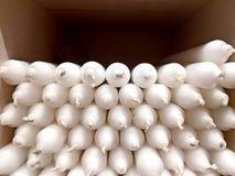 Velas brancas em uma loja de lembranças Foto de Stock Royalty Free