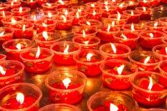 Velas chinesas vermelhas Fotografia de Stock Royalty Free