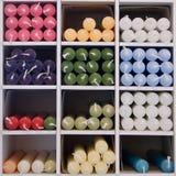 Velas coloridas Foto de archivo libre de regalías