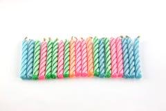 Velas coloridas. Imágenes de archivo libres de regalías