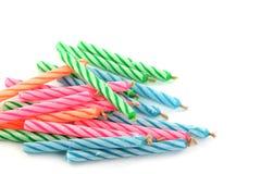 Velas coloridas. Fotos de archivo