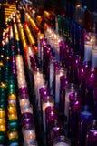 Velas coloridas fotografia de stock