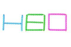Velas coloridas del cumpleaños puestas en alfabético aislado fotografía de archivo libre de regalías