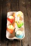 Velas coloridas dos ovos da páscoa Imagens de Stock Royalty Free