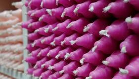 Velas cor-de-rosa Imagens de Stock Royalty Free