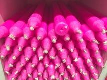 Velas cor-de-rosa em uma loja de lembranças Fotografia de Stock Royalty Free