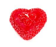 velas Coração-dadas forma sobre o branco Foto de Stock