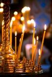 Velas cristianas ortodoxas fotografía de archivo