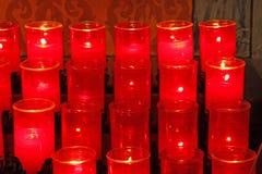 Velas da igreja Fotografia de Stock Royalty Free