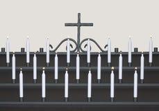 Velas da igreja foto de stock