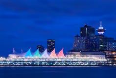 Velas da noite do lugar de Canadá imagens de stock royalty free