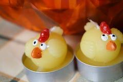 Velas da Páscoa da galinha Fotos de Stock Royalty Free