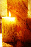 Velas de Aromatherapy Fotografia de Stock Royalty Free