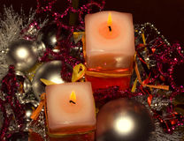 Velas de Christmass Foto de Stock Royalty Free